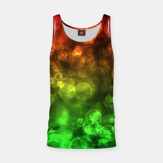 Thumbnail image of Red Green Bokeh Light Bubbles Tank Top, Live Heroes