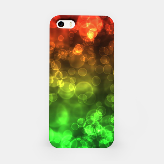 Thumbnail image of Red Green Bokeh Light Bubbles iPhone Case, Live Heroes