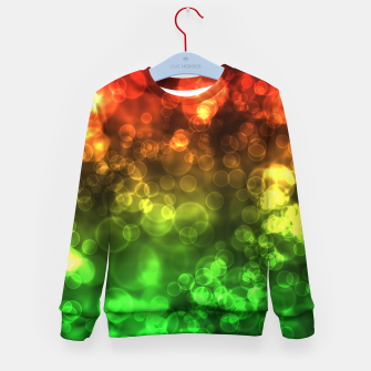 Thumbnail image of Red Green Bokeh Light Bubbles Kid's sweater, Live Heroes