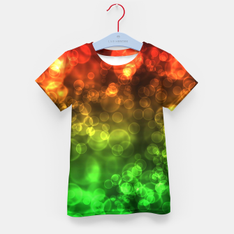 Thumbnail image of Red Green Bokeh Light Bubbles Kid's t-shirt, Live Heroes