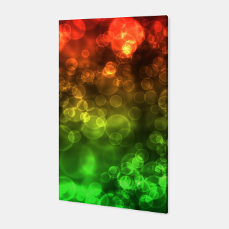 Thumbnail image of Red Green Bokeh Light Bubbles Canvas, Live Heroes