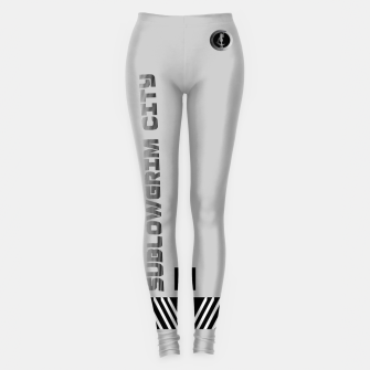 Thumbnail image of SublowGrim City Grey V.2 Ladies Casual Leggings, Live Heroes