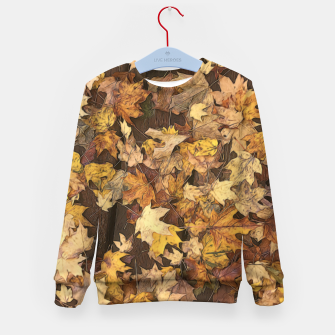 Thumbnail image of Late Fall Leaves 3 Kid's sweater, Live Heroes
