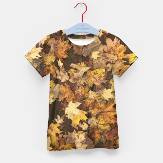 Thumbnail image of Late Fall Leaves 3 Kid's t-shirt, Live Heroes