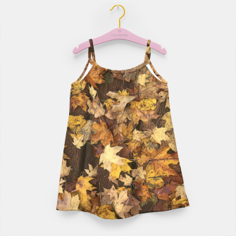 Thumbnail image of Late Fall Leaves 3 Girl's dress, Live Heroes