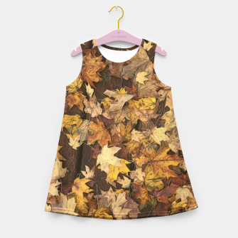 Thumbnail image of Late Fall Leaves 3 Girl's summer dress, Live Heroes