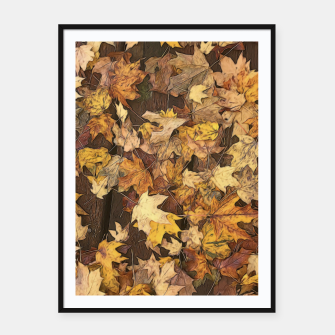 Thumbnail image of Late Fall Leaves 3 Framed poster, Live Heroes