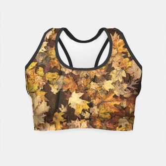 Thumbnail image of Late Fall Leaves 3 Crop Top, Live Heroes