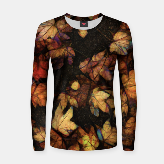 Miniatur Late Fall Leaves 4 Women sweater, Live Heroes
