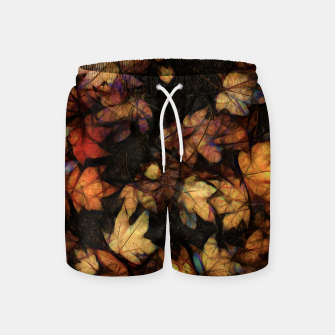 Miniatur Late Fall Leaves 4 Swim Shorts, Live Heroes