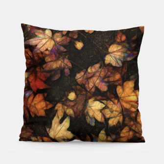 Miniatur Late Fall Leaves 4 Pillow, Live Heroes