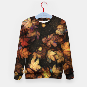 Miniatur Late Fall Leaves 4 Kid's sweater, Live Heroes