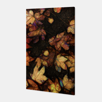 Miniatur Late Fall Leaves 4 Canvas, Live Heroes