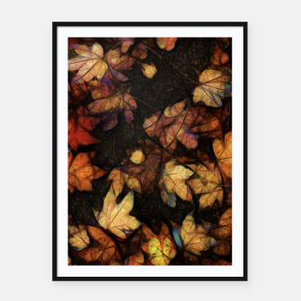 Thumbnail image of Late Fall Leaves 4 Framed poster, Live Heroes
