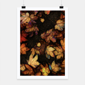Miniatur Late Fall Leaves 4 Poster, Live Heroes