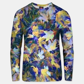 Miniatur Late Fall leaves In Blue Unisex sweater, Live Heroes
