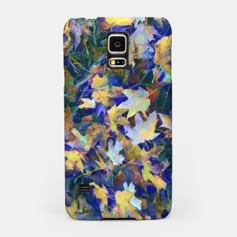 Miniatur Late Fall leaves In Blue Samsung Case, Live Heroes