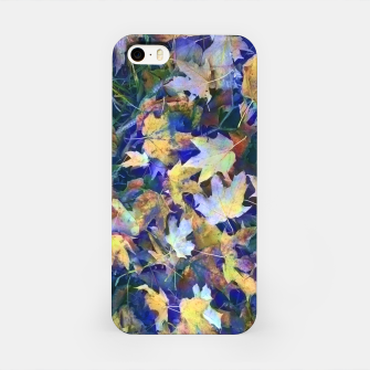 Miniatur Late Fall leaves In Blue iPhone Case, Live Heroes