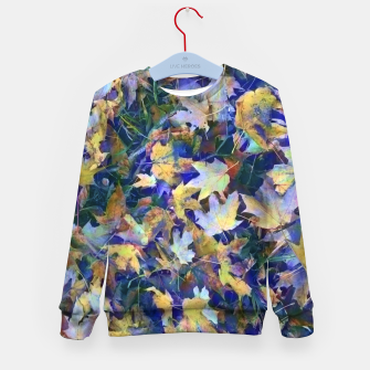 Miniatur Late Fall leaves In Blue Kid's sweater, Live Heroes
