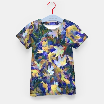 Thumbnail image of Late Fall leaves In Blue Kid's t-shirt, Live Heroes