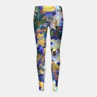 Thumbnail image of Late Fall leaves In Blue Girl's leggings, Live Heroes