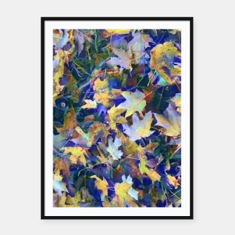 Thumbnail image of Late Fall leaves In Blue Framed poster, Live Heroes
