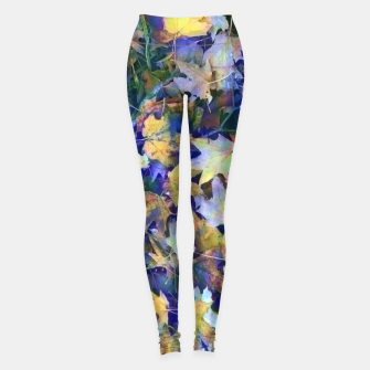 Thumbnail image of Late Fall leaves In Blue Leggings, Live Heroes