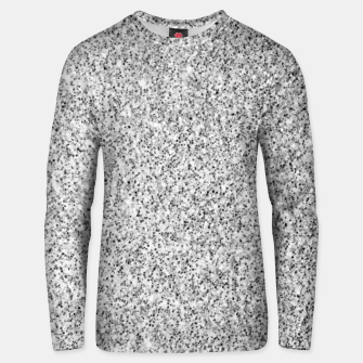 Beautiful Silver glitter sparkles Unisex sweater thumbnail image