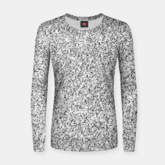 Beautiful Silver glitter sparkles Women sweater thumbnail image