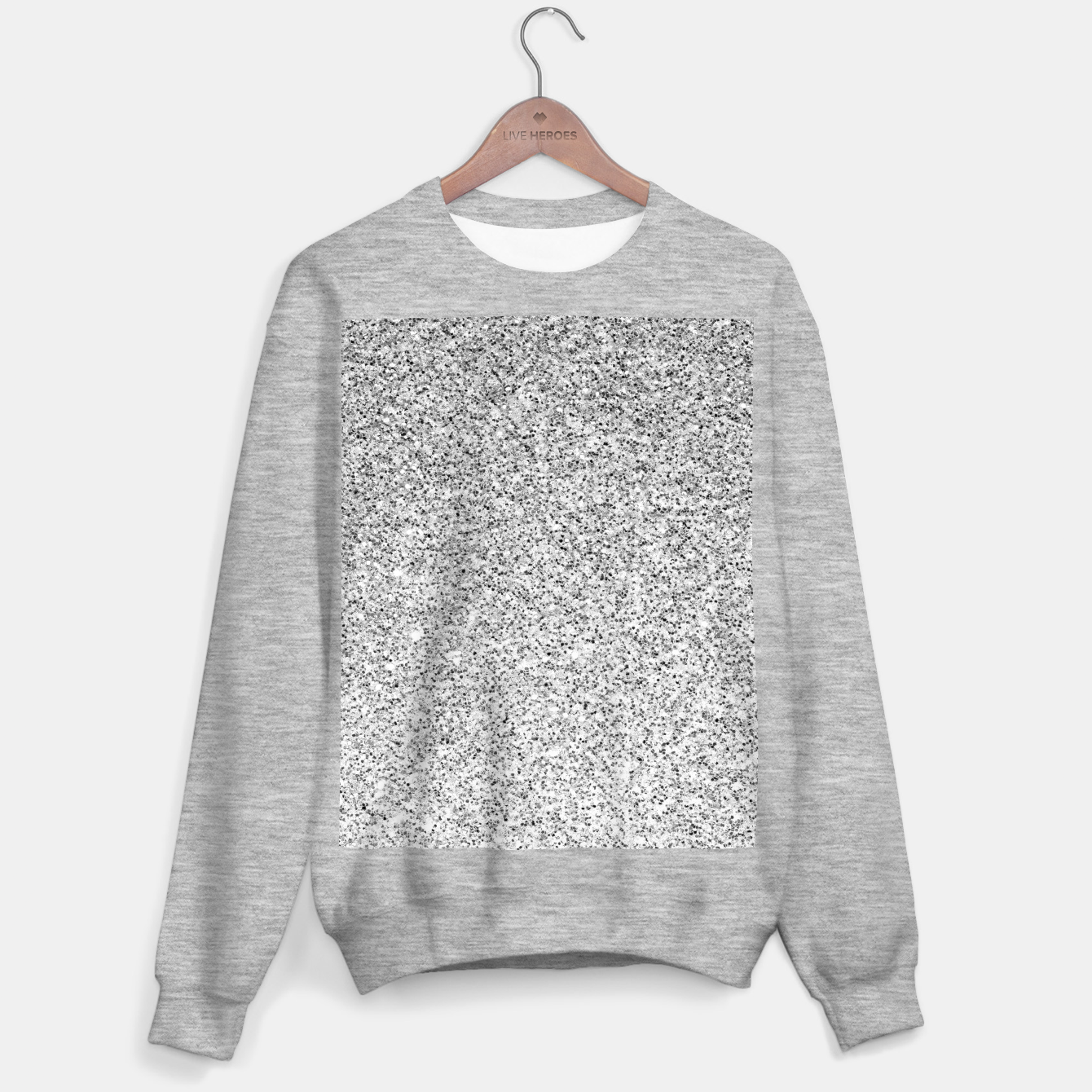Image of Beautiful Silver glitter sparkles Sweater regular - Live Heroes