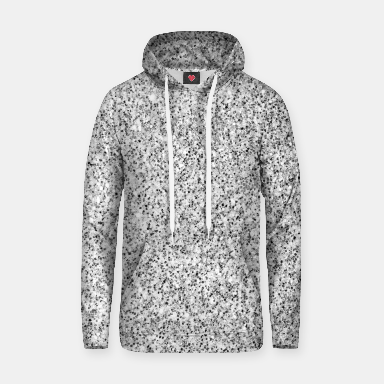 Image of Beautiful Silver glitter sparkles Hoodie - Live Heroes