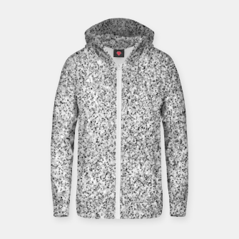 Beautiful Silver glitter sparkles Zip up hoodie thumbnail image