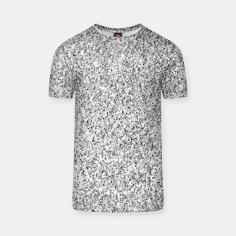 Beautiful Silver glitter sparkles T-shirt thumbnail image