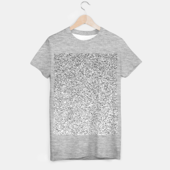 Beautiful Silver glitter sparkles T-shirt regular thumbnail image