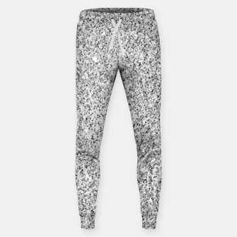 Beautiful Silver glitter sparkles Sweatpants thumbnail image
