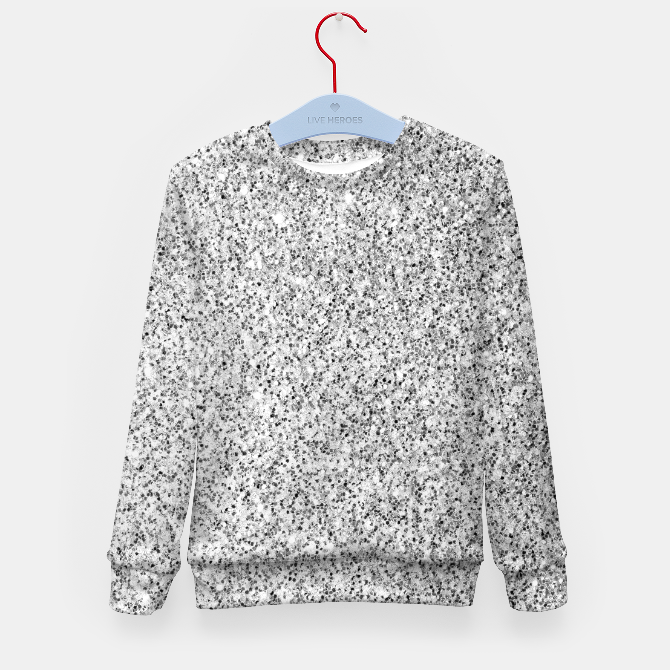 Image of Beautiful Silver glitter sparkles Kid's sweater - Live Heroes