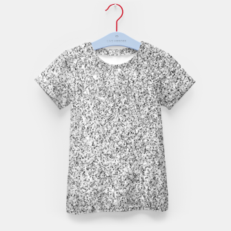 Beautiful Silver glitter sparkles Kid's t-shirt thumbnail image