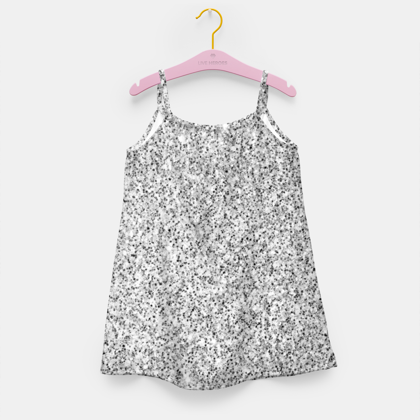 Image of Beautiful Silver glitter sparkles Girl's dress - Live Heroes