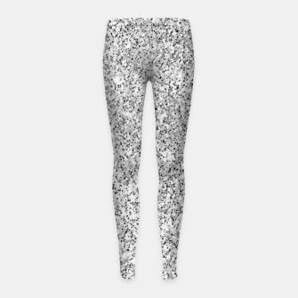 Beautiful Silver glitter sparkles Girl's leggings thumbnail image