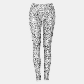 Beautiful Silver glitter sparkles Leggings thumbnail image
