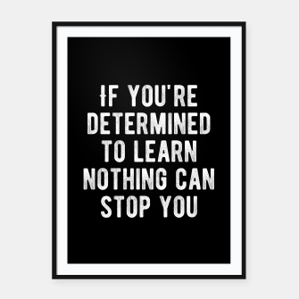 Thumbnail image of Inspirational - Nothing Can Stop You Framed poster, Live Heroes