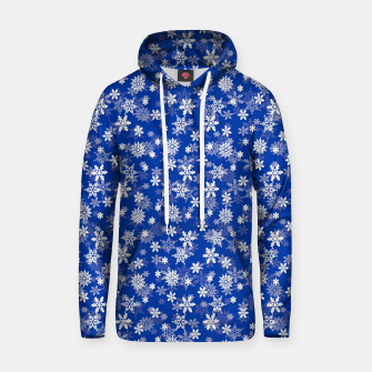 Miniatur Festive Princess Blue and White Christmas Holiday Snowflakes Hoodie, Live Heroes