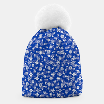 Miniatur Festive Princess Blue and White Christmas Holiday Snowflakes Beanie, Live Heroes