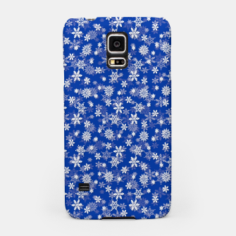 Miniatur Festive Princess Blue and White Christmas Holiday Snowflakes Samsung Case, Live Heroes