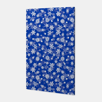 Miniatur Festive Princess Blue and White Christmas Holiday Snowflakes Canvas, Live Heroes