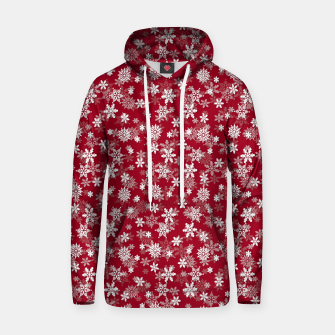 Miniatur Festive Jester Red and White Christmas Holiday Snowflakes Hoodie, Live Heroes