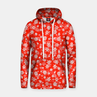 Miniatur Festive Fiesta Red and White Christmas Holiday Snowflakes Hoodie, Live Heroes