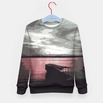 Thumbnail image of Pink Evening At The Beach Kid's sweater, Live Heroes