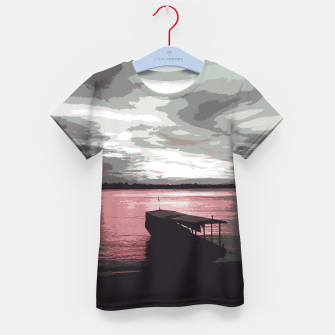 Thumbnail image of Pink Evening At The Beach Kid's t-shirt, Live Heroes