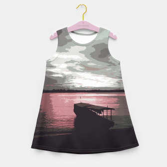 Thumbnail image of Pink Evening At The Beach Girl's summer dress, Live Heroes